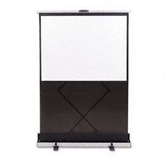 Quartet - euro portable cinema screen w/black carrying case, 60-inch x 60-inch, sold as 1 ea