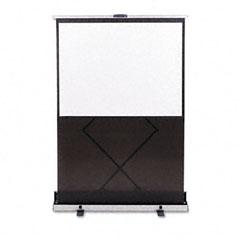 Quartet - euro portable cinema screen w/black carrying case, 60-inch x 60-inch, sold as 1 ea