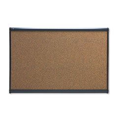 Quartet - prestige bulletin board, graphite-blend cork, 36 x 24, aluminum frame, sold as 1 ea