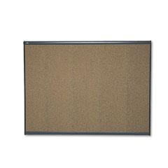 Quartet - prestige bulletin board, graphite-blend cork, 48 x 36, aluminum frame, sold as 1 ea
