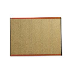 Quartet - prestige bulletin board, graphite-blend cork, 48 x 36, cherry frame, sold as 1 ea