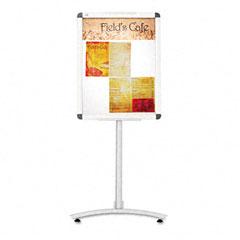 Quartet LCF2418 Clip-Frame Pedestal Sign, Aluminum, 24 X 18, Aluminum