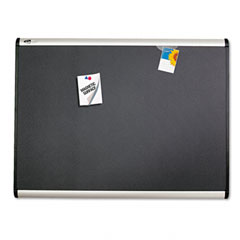 Quartet - prestige plus magnetic fabric bulletin board, 36 x 24, aluminum frame, sold as 1 ea