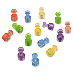 Quartet - magnetic push pins for magnetic planning boards, assorted colors, 20/pack, sold as 1 pk