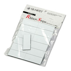 Quartet - magnetic write-on/wipe-off strips, 2w x 7/8h, white, 25/pack, sold as 1 pk