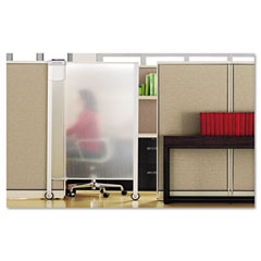 Quartet - premium workstation privacy screen, 38w x 65h, translucent clear, sold as 1 ea