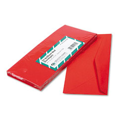 Quality Park 11134 Colored Envelope, Traditional, #10, Red, 25/Pack