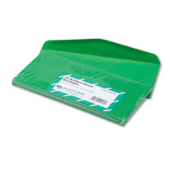 Quality Park 11135 Colored Envelope, Traditional, #10, Green, 25/Pack