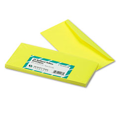 Quality Park QUA11136 Colored Envelope, Traditional, #10, Yellow, 25/Pack