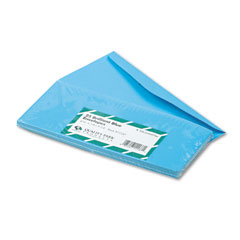 Quality Park QUA11137 Colored Envelope, Traditional, #10, Blue, 25/Pack