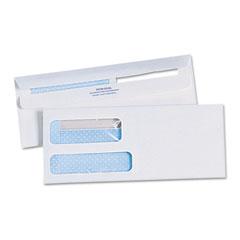 Quality park - redi-seal envelopes, #10 (4-1/8 x 9-1/2), double window, sold as 1 bx