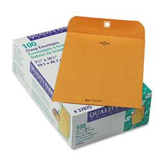 Quality Park 37875 Clasp Envelope, 7 1/2 X 10 1/2, 28Lb, Light Brown, 100/Box