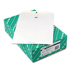 Quality Park 38397 Clasp Envelope, 10 X 13, 28Lb, White, 100/Box