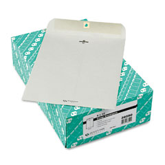 Quality Park 38590 Clasp Envelope, 9 X 12, 28Lb, Executive Gray, 100/Box