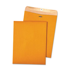 Quality Park 38712 100% Recycled Brown Kraft Clasp Envelope, 10 X 13, Light Brown, 100/Box