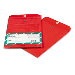 Quality park - fashion color clasp envelope, 9 x 12, 28lb, red, 10/pack, sold as 1 pk