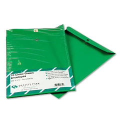 Quality park - fashion color clasp envelope, 9 x 12, 28lb, green, 10/pack, sold as 1 pk