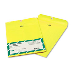 Quality park - fashion color clasp envelope, 9 x 12, 28lb, yellow, 10/pack, sold as 1 pk