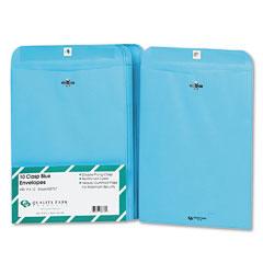 Quality park - fashion color clasp envelope, 9 x 12, 28lb, blue, 10/pack, sold as 1 pk