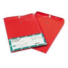 Quality Park QUA38754 Fashion Color Clasp Envelope, 10 x 13, 28lb, Red, 10/Pack