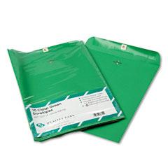 Quality Park QUA38755 Fashion Color Clasp Envelope, 10 x 13, 28lb, Green, 10/Pack