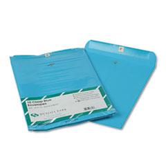 Quality Park QUA38757 Fashion Color Clasp Envelope, 10 x 13, 28lb, Blue, 10/Pack