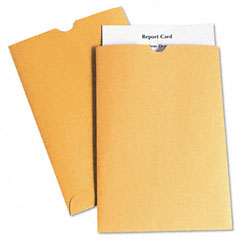 Quality Park 40762 Report Card Jacket, 28Lb., Kraft, Thumb Cut, 100 Per Box
