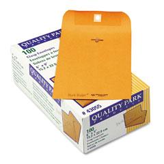 Quality Park 43055 Park Ridge Kraft Clasp Envelope, 6 X 9, Light Brown, 100/Box