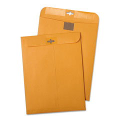 Quality Park 43468 Postage Saving Clear-Clasp Kraft Envelopes, 6 X 9, Light Brown, 100/Box