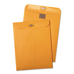 Quality Park 43768 Postage Saving Clear-Clasp Kraft Envelopes, 10 X 13, Light Brown, 100/Box