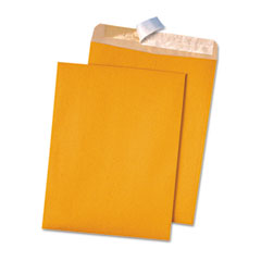 Quality Park 44511 100% Recycled Brown Kraft Redi-Strip Envelope, 9 X 12, Light Brown, 100/Box