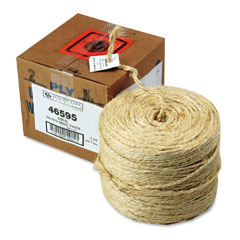 Quality Park 46595 Brown Sisal Two-Ply Twine, 1500 Feet