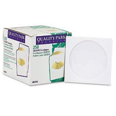 Quality park - cd/dvd sleeves, 250/box, sold as 1 bx