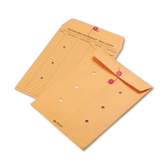 Quality Park 63462 Light Brown Kraft String & Button Interoffice Envelope, 9 X 12, 100/Carton