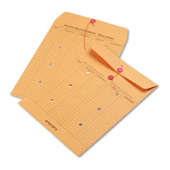 Quality Park 63560 Brown Recycled Kraft String & Button Interoffice Envelope, 10 X 13, 100/Carton