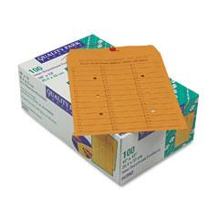 Quality Park 63562 Brown Kraft String & Button Box-Style Interoffice Envelope, 10 X 13, 100/Box
