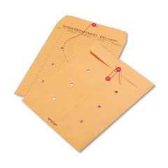 Quality park - light brown kraft string & button interoffice envelope, 10 x 13, 100/carton, sold as 1 ct