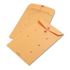 Quality park - light brown kraft string & button interoffice envelope, 10 x 15, 100/carton, sold as 1 ct