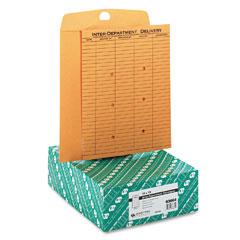 Quality Park 63664 Light Brown Kraft Resealable Redi-Tac Interoffice Envelope, 10 X 13, 100/Box