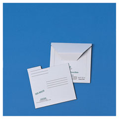 Quality Park 64112 Redi-File Disk Pocket Mailer, 5 3/4 X 5 3/4, Recycled, White, 10/Pack