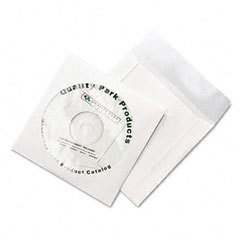 Quality Park 77203 Tech-No-Tear Cd/Dvd Sleeves, 100/Pack
