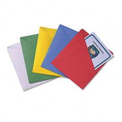 Quality Park 89503 Slash-View Pocket Organizers, Letter, Assorted Colors, 25/Pack
