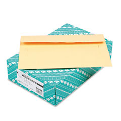 Quality park - filing envelopes, 10 x 14 3/4, 3 point tag, cameo buff, 100/box, sold as 1 bx