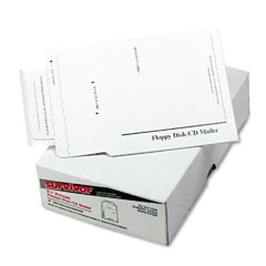 Quality Park E7261 Tyvek-Lined Multimedia Mailer, Contemporary, 5 X 5, White, 25/Box
