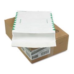 Quality Park QUAR4300 Tyvek Expansion Mailer, First Class, 12 x 16 x 2, White, 18lb, 100/carton
