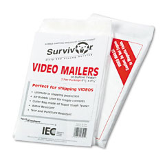 Quality Park R7505 Tyvek Air Bubble Video Mailer, Flap-Stik, Side Seam, 6 1/2 X 9, White, 2/Pack