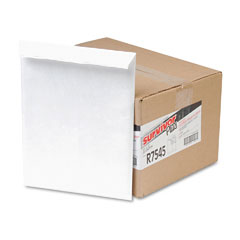 Quality Park R7545 Tyvek Air Bubble Mailer, Self-Seal, Side Seam, 10 X 13, White, 25/Box