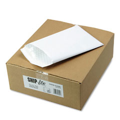 Quality Park S3901 Ship-Lite Bubble Lined Envelope, Side Seam, 6 1/2 X 9 1/2, White, 25/Box