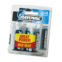 Rayovac 813-4 Maximum Plus Alkaline Batteries, D, 4/Pack