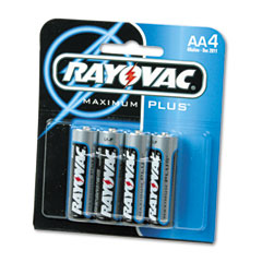 Rayovac 815-4E Maximum Plus Alkaline Batteries, Aa, 4/Pack